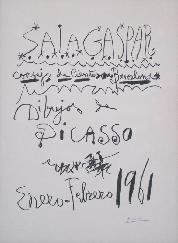Picasso Pablo 1961 Dibujos De Picasso Sala Gaspar Barcelona