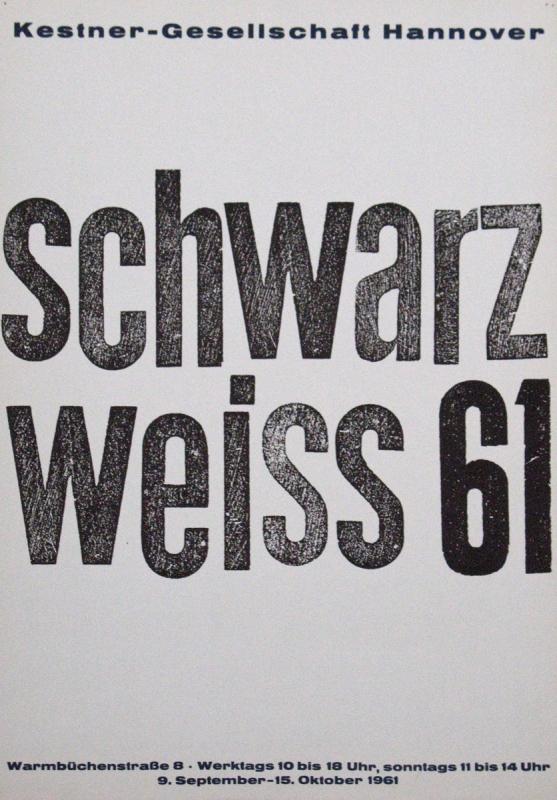 972f92a6a47aef Anonym - 1961 - schwarz weiss 61 - Künstlerplakate - Galerie für ...