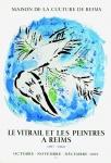 Chagall, Marc - 1969 - (Lange sur fond bleu) Maison de la Culture de Reims