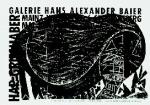 Grieshaber, HAP - 1963 - (Hängebauchschwein) Galerie Baier