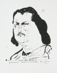 Janssen, Horst - 1967 - Buchhandlung Hansen Laatzen Hamburg (Honoré de Balzac)