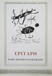 Miró, Joan - 1965 -  Galerie Hartmann (Epitaph)