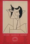 Picasso, Pablo - 1958 - (Collages, aquarelles...) Galerie Craven