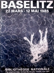 Poster: Baselitz, Georg - 1985 - Bibliotheque Nationale