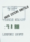 Poster: Weiner, Lawrence - 1988 - Haus Esters