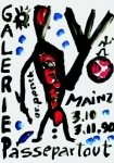 Poster: Penck, A.R. - 1990 - Galerie Passepartout