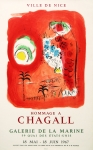 Chagall, Marc - 1967 - (Sirène rouge) Galerie de la Marine Nizza