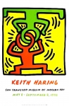 Poster: Haring, Keith - 1998 - (Headstand) Museum of Modern Art San Francisco