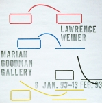 Plakat: Weiner, Lawrence - 1993 - Goodman Gallery New York