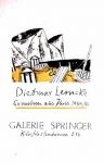 Lemcke, Dietmar - 1955 - (Gouachen aus Paris) Galerie Springer