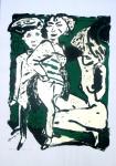 Pfennig, Wolf-Dieter - 1991 - Drei Personen auf grünem Grund