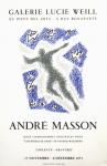 Poster: Masson, André - 1973 - Galerie Weill