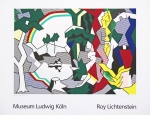 Poster: Lichtenstein, Roy - 1989 - Museum Ludwig (landscape with figures