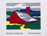 Plakat: Lichtenstein, Roy - 1989 - Museum Ludwig (Red Barn)