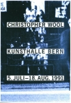 Poster: Wool, Christopher - 1991 - Kunsthalle Bern
