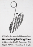 Gies, Ludwig - 1951 - Kölnischer Kunstverein
