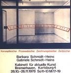 Schmidt-Heins, Barbara - 1978 - Kabinett für Aktuelle Kunst Bremer
