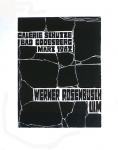 Rosenbusch, Werner - 1962 - Galerie Schütze, Bad Godesberg