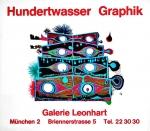 Hundertwasser, Friedensreich - 1966 - Galerie Leonhart München