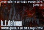 Dahmen, Karl Fred - 1959 - Galerie Parnass