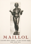 Poster: Maillol, Aristide - 1954 - Galerie Vierny