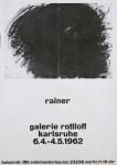 Rainer, Arnulf - 1962 - Galerie Rottloff Karlsruhe