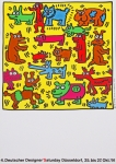 Poster: Haring, Keith - 1991 - 4.Deutscher Designer Saturday Düsseldorf