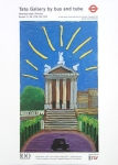 Poster: Hockney, David - 1997 - Tate Gallery by bus and tube
