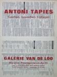 Tàpies, Antoni - 1969 - Galerie Van de Loo