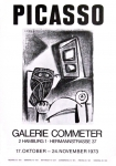 Poster: Picasso, Pablo - 1973 - Galerie Commeter