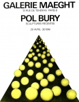 Poster: Bury, Pol - 1972 - Galerie Maeght