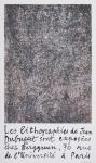 Dubuffet, Jean - 1960 - Galerie Berggruen Paris (Les lithographies de Jean Dubuffet)