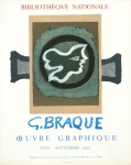 Poster: Braque, Georges - 1960 - Bibliotheque nationale
