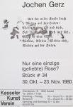 Gerz, Jochen - 1980 - Kasseler KV