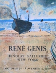 Plakat: Genis, René - 1960 - Findlay Galleries