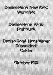 Fruhtrunk, Günter - 1974 - Galerie Denise René