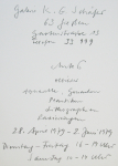 Antes, Horst - 1979 - Galerie Schäfer Gießen