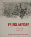 Friedlaender, Johnny - 1970 - La Hune Paris