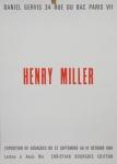 Miller, Henry - 1967 - Galerie Daniel Gervis