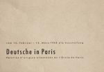 Kiesel, Carl Maria - 1958 - Deutsche in Paris