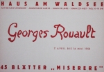 Poster: Rouault, Georges - 1950 - Berlin (Haus am Waldsee)