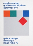 Graeser, Camille - 1971 - Galerie design 1 Hamburg