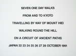 Plakat: Fulton, Hamish - 1991 - seven one day walks from and to Kyoto