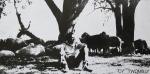 Twombly, Cy - 1971 - Galerie Denise René / Hans Mayer (8 Gouachen aus dem Jahr 1971 - Einladung)