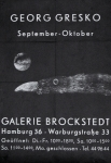 Gresko, Georg - 1960 - Galerie Brockstedt, Hamburg