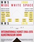 Plakat: Weiner, Lawrence - 1995 - Kunstmuseum Bonn (Wide White Space)