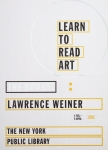 Plakat: Weiner, Lawrence - 1995 - The New York Public Library