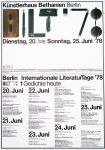 Plakat: Chruxin, Christian - 1978 - Internationale LiteraturTage