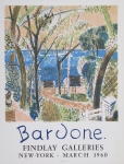 Poster: Bardone, Guy - 1960 - Findlay Galleries, New York
