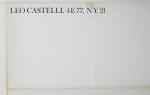 Bontecou, Lee - 1962 - Leo Castelli, New York